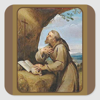St. Francis of Assisi Patron Saint of Animals Square Sticker