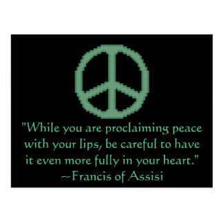 St. Francis of Assisi Peace Quote Postcard