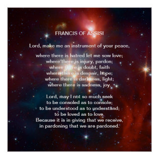 St Francis of Assisi prayer Poster