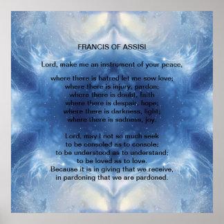 St Francis of Assisi prayer Print