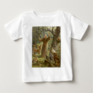 St. Francis of Assisi Preaching to the Animals Baby T-Shirt