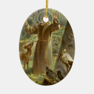 St. Francis of Assisi Preaching to the Animals Ceramic Ornament