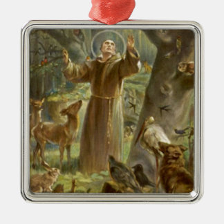 St. Francis of Assisi Preaching to the Animals Metal Ornament
