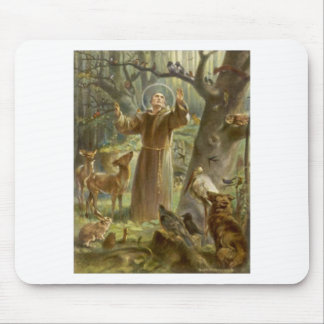 St. Francis of Assisi Preaching to the Animals Mouse Pad