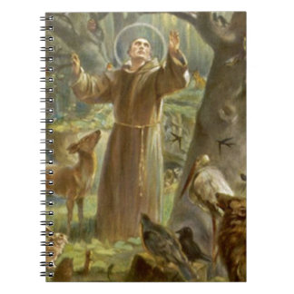 St. Francis of Assisi Preaching to the Animals Notebook