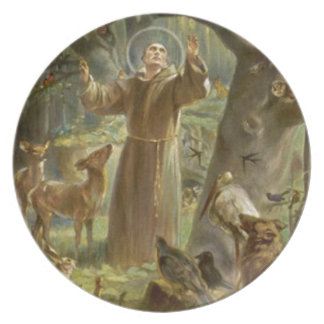 St. Francis of Assisi Preaching to the Animals Plate