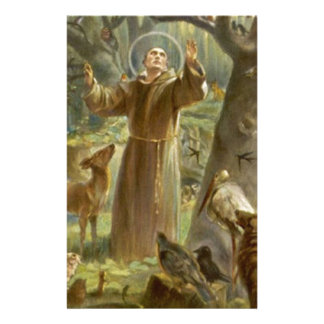 St. Francis of Assisi Preaching to the Animals Stationery