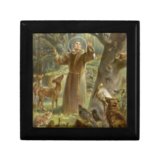 St. Francis of Assisi Preaching to the Animals Trinket Boxes