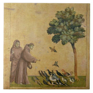 St. Francis of Assisi preaching to the birds Tile