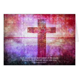 St. Francis of Assisi Quote about PEACE art Card