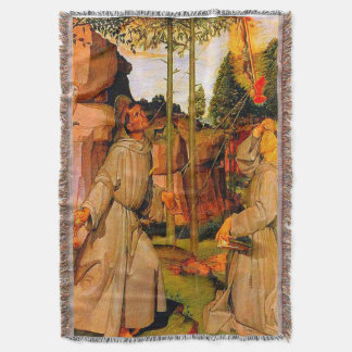 St Francis of Assisi Receives Stigmata From Jesus Throw Blanket