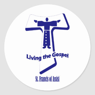 St Francis of Assisi Round Sticker