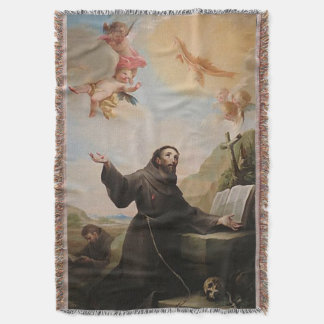 St Francis of Assisi - San Francisco de Asis 24 Throw Blanket