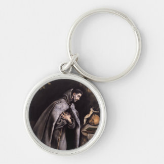 St. Francis of Assisi Silver-Colored Round Keychain