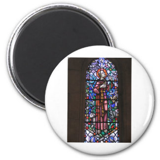 St Francis of Assisi stained glass 2 Inch Round Magnet