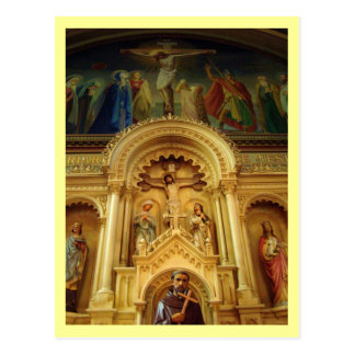 St Francis of Assisi Statue Postcard