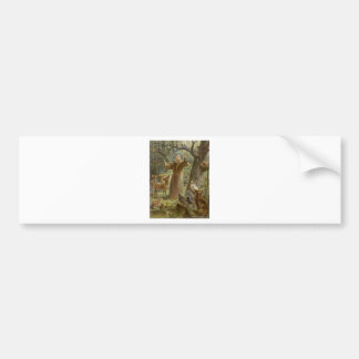 St. Francis of Assisi Surrounded by Animals Bumper Sticker