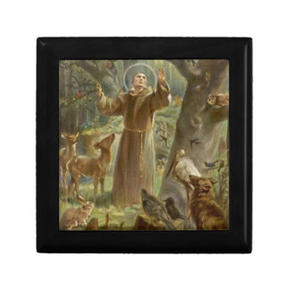 St. Francis of Assisi Surrounded by Animals Gift Box