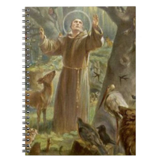 St. Francis of Assisi Surrounded by Animals Notebooks