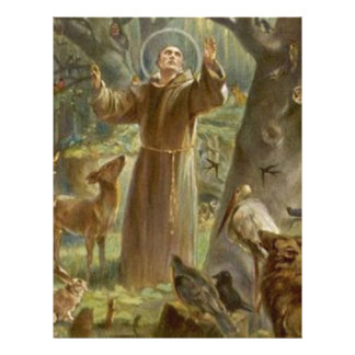 St. Francis of Assisi Surrounded by Animals Personalized Letterhead