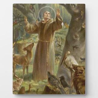 St. Francis of Assisi Surrounded by Animals Plaque