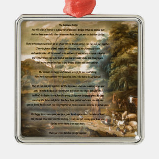 St. Francis of Assisi & The Rainbow Bridge Metal Ornament