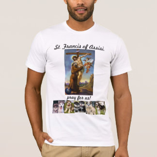 St. Francis of Assisi wtih Dogs T-Shirt