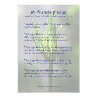 "St Francis Pledge / Earth Charter card 3.5"" X 5"" Invitation Card"