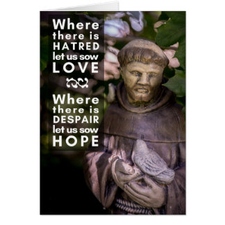 St. Francis Prayer Greeting Card