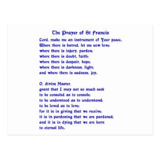 St Francis Prayer Postcard