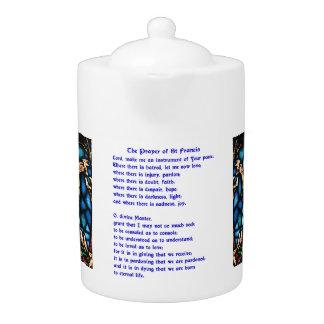 St Francis Prayer Teapot