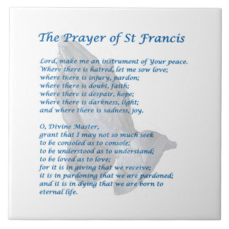 St Francis Prayer Tile