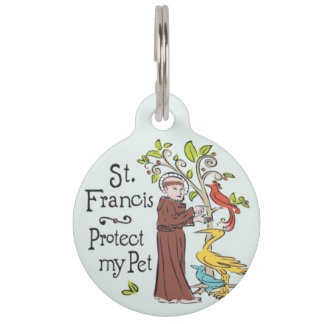 St. Francis Protect My Pet ID Tag
