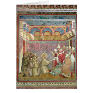 St. Francis Receives Approval Greeting Card