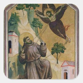 St. Francis Receiving the Stigmata, c.1295-1300 Square Sticker
