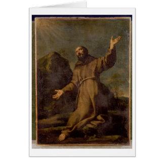 St. Francis Receiving the Stigmata Greeting Card
