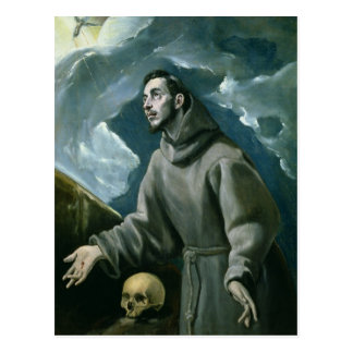 St. Francis Receiving the Stigmata (oil on canvas) Postcard