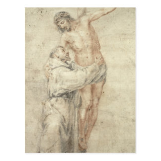 St. Francis Rejecting the World and Embracing Postcard