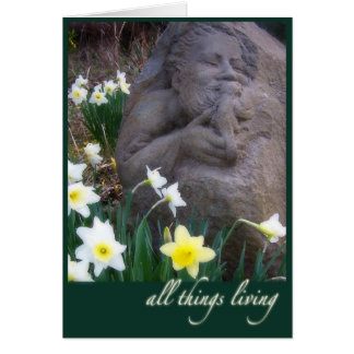 St. Francis sculpture Greeting Card