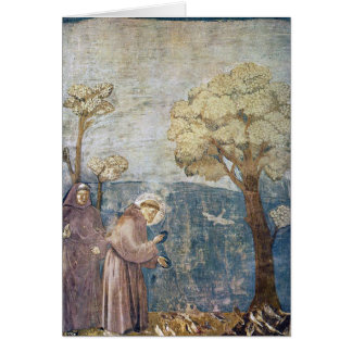 St. Francis Sermon to the Birds Assisi Basilica Greeting Card