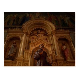 St Francis Statue Postcard
