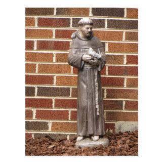 St. Francis Statue Postcard