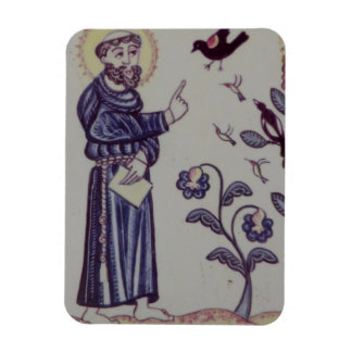 St Francis talking to the Bird Rectangular Photo Magnet