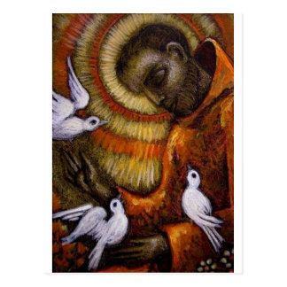St. Francis with Doves, Postcard, Mug, Hat, iPhone