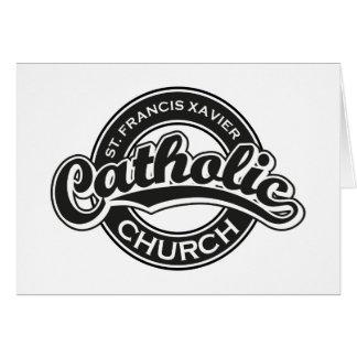 St. Francis Xavier Catholic Church Black White Card