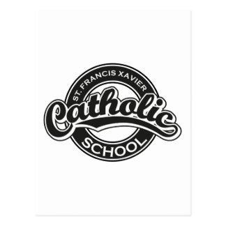 St. Francis Xavier Catholic School Black and White Postcard