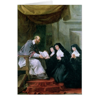St. Francois de Sales  Giving the Rule Card