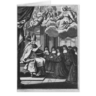 St. Francois de Salles  Giving the Rule Card