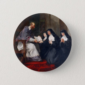 St. Francoise with St. Jeanne 2 Inch Round Button