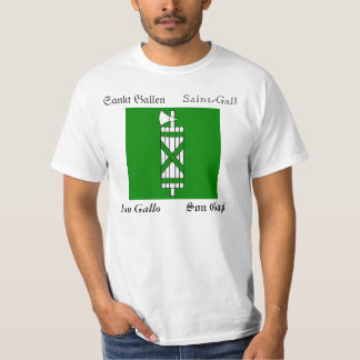 St. Gallen Four Language Swiss Canton Flag T-Shirt
